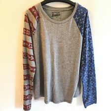 BROOKLYN CLOTH Size L Urban Outfitters Men's Gray Long Sleeve Tee T-Shirt USA