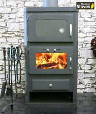 Wood Burning Multifuel Stove & Oven Cooker Combination - 16kw Duo Modern Stoves