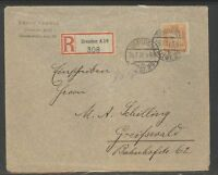 Germany Postal Cover, Dresden 1927