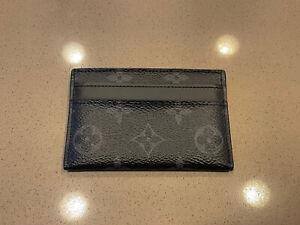Authentic LOUIS VUITTON Monogram Eclipse Card Case Card Holder