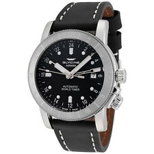 Glycine Men's 3954.191.LB9B Airman 42 Automatic GMT 42mm Black Dial - GL0066