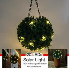20 LED Solar Powered Topiary Ball Garden Light Cafe Bar Hanging Lamp Ornament