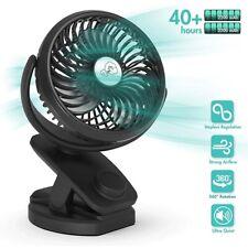 360° Rotating 2 in 1 USB Rechargeable Clip on Fan & 5000mAh Power Bank Desk Fan