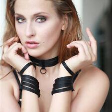 Bandage Wrist & Collar Harness Top Lingerie Underwear Sexy Goth Lingerie Neck