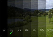 Autoglasfolie Unzerkratzbar 50cm x 3m Fenster 5% Tönungsfolie Schwarz Autofolie