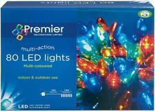 LED Multi-Action Xmas Christmas Lights 80 Bulbs Multicolour Festive Decoration
