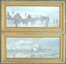 """""""Going Dutch"""" - 2 Dutch Scenes - Oil Paintings by Highlands Artist Annette McKee"""