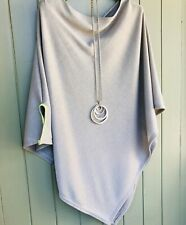 Grey, PONCHO with Neon side detail