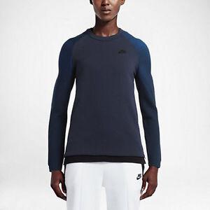Nike Sportswear Tech Fleece Crew Sweatshirt/ Women's Size Medium/ Blue- No Tag