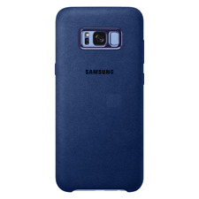 Samsung Custodia Originale Back Cover Alcantara Hard case Blu per Galaxy S8 Plus