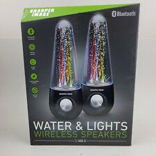Sharper Image Bluetooth Water & Lights Wireless Speakers Sbt626-2. New in Box