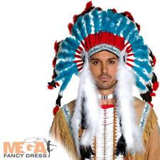 Native American Headdress Adults Fancy Dress Indian Wild West Costume Accessory