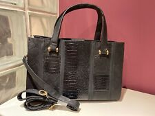 Atmosphere Black bag with compartments - short and long straps - animal print