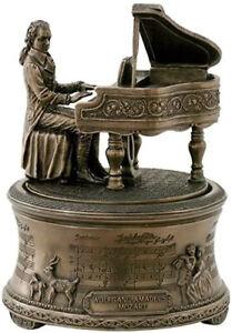 Music Box MOZART Statue Figurine Plays Music 15cm (H)