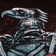 Slayer Heavy Metal Rock T Shirt Cotton Large Delta Pro Eagle Skulls Sword