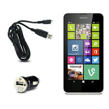 Mini Car Charger W/Micro USB Cable for Nokia Lumia 630