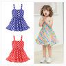 Toddler Infant Kids Baby Girl Summer Dress Princess Party Wedding Gallus Dresses