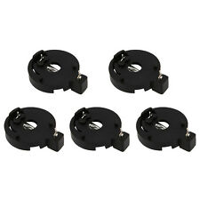 5PCS CR2032/CR2025 3V Round Button Coin Cell Battery Socket Holder Case Black US