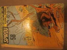 RECUEIL ALBUM JOURNAL DE SPIROU NUMERO 58 DE 1956 COMPLET  EN  BON ETAT  COMPLET