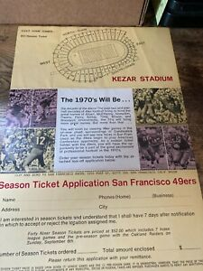 1970 SAN FRANCISCO 49ERS SEASON TICKET FORM AND SCHEDULE