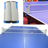 Portable Retractable Table Tennis Ping Pong Net Kit Replacement Set Indoor Games