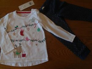BNWT baby girl Christmas outfit. F&F. 12-18 months.      (2/1)