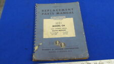 Manual for K&T Replacement Parts for 3&4 Model CH      X-469