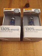 2x Halfords 130% Brilliance 472 H4 Xenon Car Light Bulb Headlight Brand New