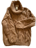 Excellent Condition Girls Zara Cable Knit Camel Beige Jumper Age 11-12yrs
