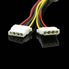 New 20cm 4pin IDE Molex Power Supply  Male to Female Y Splitter Extension Cable