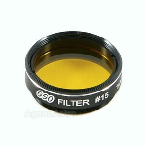 """GSO 1.25"""" Color / Planetary Filter - #15 Dark Yellow"""
