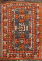 Geometric Balouch Tribal Area Rug Hand-Knotted Oriental Wool Kitchen Carpet 2x2