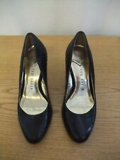 Ladies Shoes Ted Baker black leather courts, UK 3 EU 35.5, contrast lining 3049