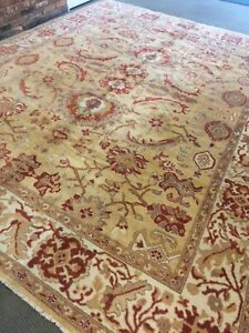 9' X 12'  Oushak Hand Woven /Knotted Area Rug orienta Design Wool pile elegant