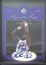 1997-98 Upper Deck SP Sign of the Times Autograph #KM Karl Malone