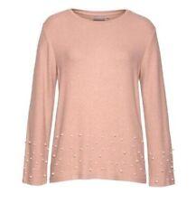 Fransa knit sweater with pearl embellishment     Medium    F6