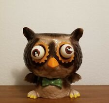 Rare and Amazing Vintage Ceramic Googly Eyed Owl Planter Cookie Jar