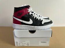 Nike - Air Jordan 1 Mid [BLACK / NOBLE RED] [UK4 | US6.5 | EU37.5]
