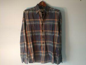 Wallace & Barnes Multi Plaid Lightweight Field Shirt Size Small