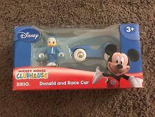32242 Disney Brio Wooden Train Donald Duck & Race Car! Thomas! NEW!