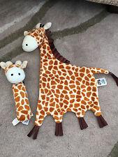 Jelly Kitten Giraffa Coccole Coperta Trapunta & Hand Held Squeaker Squeak Toy