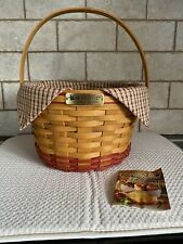Longaberger 1999 Collectors Club Homestead Apple Basket Combo Excellent! Reduced