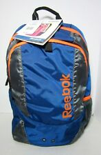 Reebok Backpack For Laptop Kell Blue/Orange NWT
