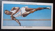 Alta JUMP Johnson Usa Original Década de 1930 tarjeta Vintage
