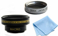 30mm Wide Angle Lens + Macro + CPL Filter for Sony Handycam HDR & DCR