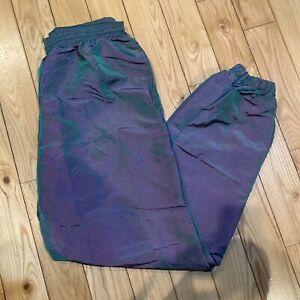 Vtg Surf Style Pants Iridescent Size Large Purple Green