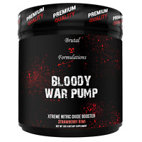 BRUTAL FORMULATIONS - BLOODY WAR PUMP - NITRIC OXIDE BOOSTER - 30 SERVINGS