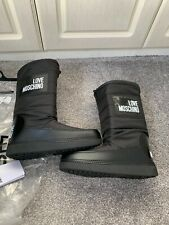 BNWT Black Genuine Moschino Snow/moon Winter Calf Boots Size 5