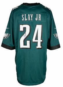 Darius Slay Signed Philadelphia Eagles Green Nike Football Jersey JSA