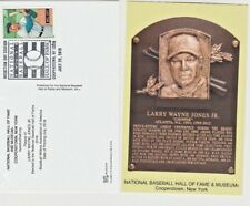 Chipper Jones Hall Of Fame Plaque Post Card 2018 Postal Cancelled!!